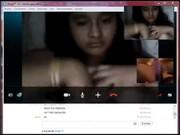 Imagen Me muestra las tetas por Skype para que ma la jale