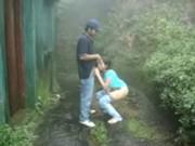 Imagen Cogida con amor cerca de una cascada