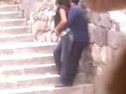 Imagen Espian a parejita caliente cogiendo en unas escaleras