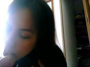 Imagen Esposa chupando verga a corneador mientras graba