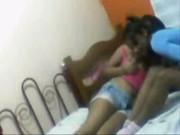 Imagen Par de lesbianas jugando en la cama